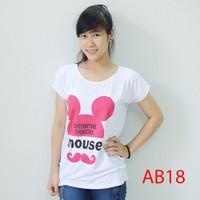 Áo thun nữ form rộng đầu chuột AB18