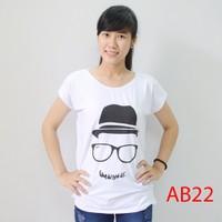 Áo thun nữ form rộng in hình AB22