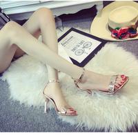 Giày cao gót ánh đồng sang trọng