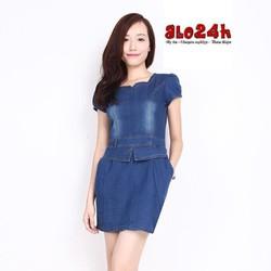 Đầm Jean lơ sau JM 15012