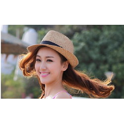 Nón cói rộng vành Fedora cá tính thời trang Hàn Quốc L121516