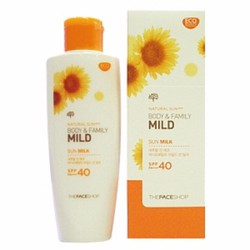 KCN toàn thân Natural Sun Body Family Mild Sun Milk SPF40