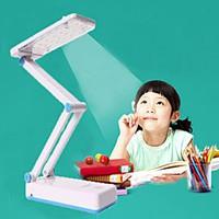 Đèn để bàn học KM 6655-Pin sạc-28 bóng đèn led-chân xếp-NÚT CẢM ỨNG