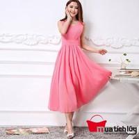 Đầm Maxi hồng