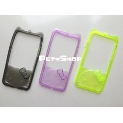 Ốp viền đầu Kitty iPhone 5 5S