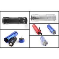 Đèn PIN led Mini-vỏ nhôm-9 bóng-siêu sáng