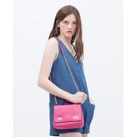Túi Zara mini nắp 2 khóa cài