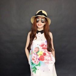 Đầm suông họa tiết hoa cổ peter, hàng thiết kế cao cấp