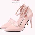 Mã NA01: Hàng nhập - Giày cao gót đính ngọc trai duyên dáng NA01