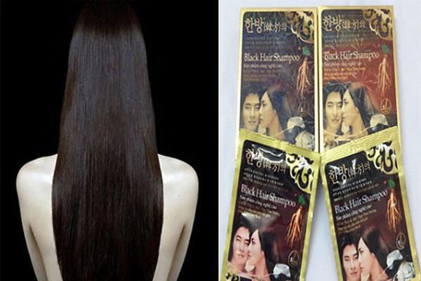 Dầu Gội Đen Tóc Black Hair Shampoo gội là đen của Hàn Quốc 6