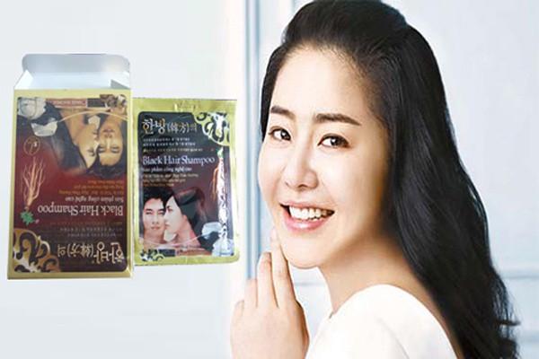 Dầu Gội Đen Tóc Black Hair Shampoo gội là đen của Hàn Quốc 3