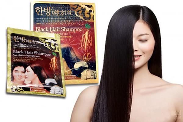 Dầu Gội Đen Tóc Black Hair Shampoo gội là đen của Hàn Quốc 4