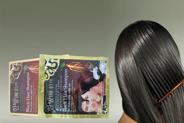 Dầu Gội Đen Tóc Black Hair Shampoo gội là đen của Hàn Quốc 5