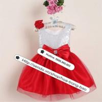 Hàng nhập _ Đầm công chúa hoa hồng
