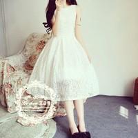 Đầm ren Thái form dài