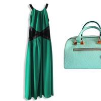 Bộ đầm dạ hội và túi xách