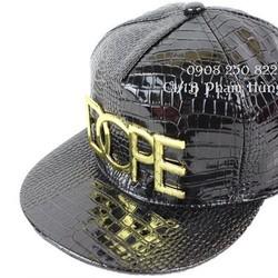 Nón snapback hip hop DOPE Da cá sấu bóng. Hàng nhập cung cấp sỉ lẻ