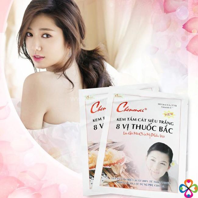 Kem tắm cát siêu trắng 8 vị thuốc bắc dưỡng thể Chenmai 1