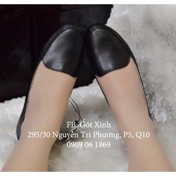 Giày búp bê mọi trơn đen-GX230