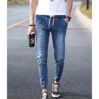 Quần jeans lưng thun ống túm Mã: ND0558 - XANH ĐẬM