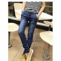 Quần jeans dài lưng thun Mã: ND0377 - XANH ĐẬM