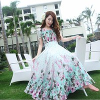 Đầm maxi hoa Candy BM32-HÀNG NHẬP CAO CẤP Y HÌNH