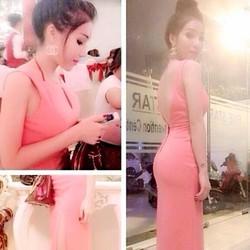 Đầm dạ hội hở lưng V váy xẻ quyến rũ
