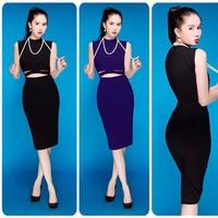 Đầm body cutout giống Ngoc Trinh