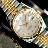 đồng hồ chống nước,chống rỉ Rolex nữ các số thay bằng viên đá nhỏ