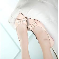 Hàng cao cấp: Giày búp bê kem nơ phối VNXK