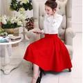 Set đầm đỏ áo nơ trắng BD126 - HÀNG CAO CẤP Y HÌNH
