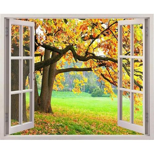 Tranh dán tường cửa sổ 3D CS-0079