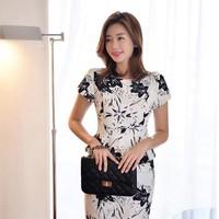 Đầm công sở Peplum In Hoa Suzy xinh đẹp thời trang TTCS18