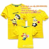 Áo Gia Đình Cao Cấp Minion GĐ-CC00133 set 3 áo