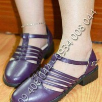Giày OXFORD đế thô cách điệu