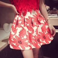 Chân váy nữ xòe hoa Mã: VN340