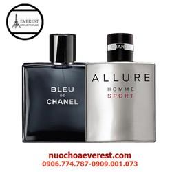 Bộ 2 Chai nước hoa Chanel Bleu và Allure homme 50ml
