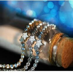 Vòng tay nữ thời trang, họa tiết ngôi sao đính đá hiện đại