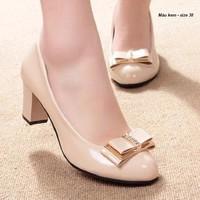 Giày cao gót đính nơ xinh xắn