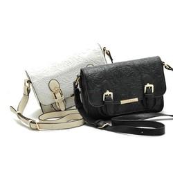Túi da nữ thời trang, dáng nhỏ mẫu đeo chéo vân dập nổi mềm mại