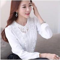 Thời trang nữ nhập khẩu - Áo sơ mi nữ Hàn Quốc A114