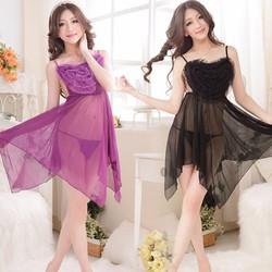 Váy Ngủ Quyến Rũ Trái Tim Tình Si - MS384