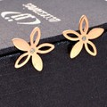 Bông tai Titan Hàn Quốc Hoa 5 cánh - Trang sức Titan