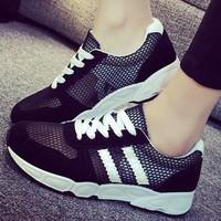 Giày Bata Nữ - Giày Bata 2015 - Giày Bata Nữ 2 Sọc  - MSP 2306