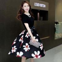 Đầm Tay Voan Chân Váy Hoa Cao Cấp