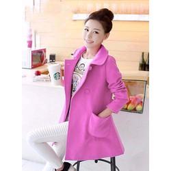 Áo khoác hồng  nỉ nhẹ nhàng