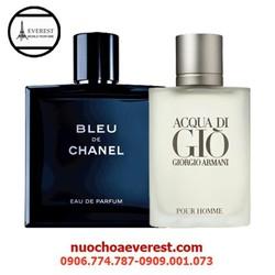 Bộ Nước hoa Nam Bleu de Chanel và Gio Pour Homme