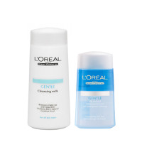 Bộ tẩy trang LOréal Gentle Cleansing Milk 200ml - Lip And Eye 125ml
