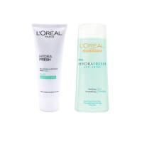 Bộ dưỡng ẩm da giảm nhờn LOréal HydraFresh Anti-Shine 100ml x 200ml