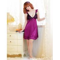 Váy Ngủ Gợi Cảm Lụa Ren Ngực - MS377